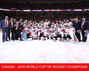 affc2ff3c64 Team Canada - 2016 World Cup of Hockey Champions - 8x10 Color Team ...