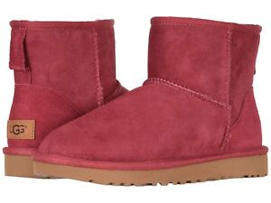 Women-039-s-Shoes-UGG-Classic-Mini-II-Slip-On-Boots-1016222-GARNET-SIZE-5