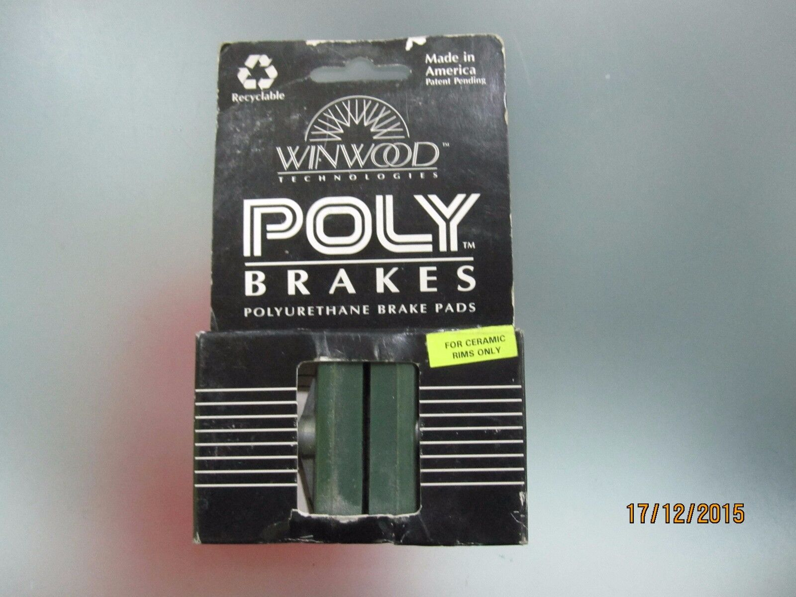 Vintage WINWOOD POLY  brake pads for ceramic rims, very rare. NIB  sale online discount low price