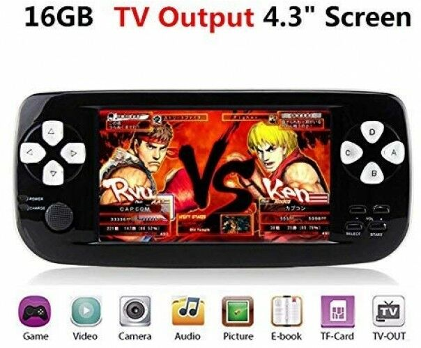 Handheld Console de jeu rétro, avec 4.3 jeux de 3000, Portable PAP-Tuer, soutien