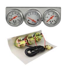 Car Auto Gauges Chrome 50mm Water Temp Oil Pressure Volt Triple 3 Mechanicalkit