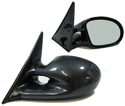 CARBON FIBRE LOOK ELECTRIC M3 STYLE WING MIRRORS BMW E46 SALOON ESTATE & COMPACT