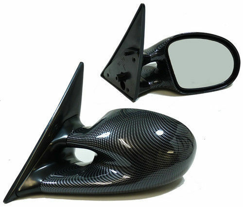 CARBON FIBRE LOOK ELECTRIC M3 STYLE WING MIRRORS FOR BMW E36 COUPE /& CONVERTIBLE