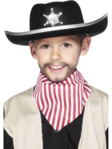 Sheriff Cowboy Hat Boys Fancy Dress Wild West Costume Accessory