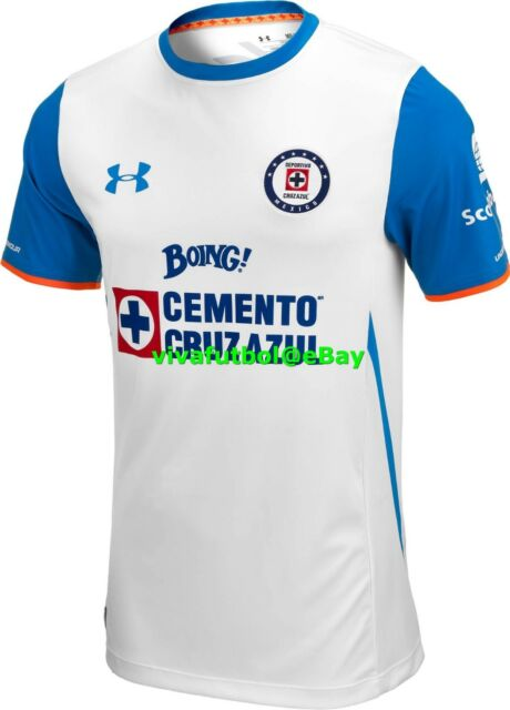 e5eaa9fd1aa NEW Under Armour UA Mens Cruz Azul LIGA MX MEXICO Away 2015 2016 Soccer  Jersey