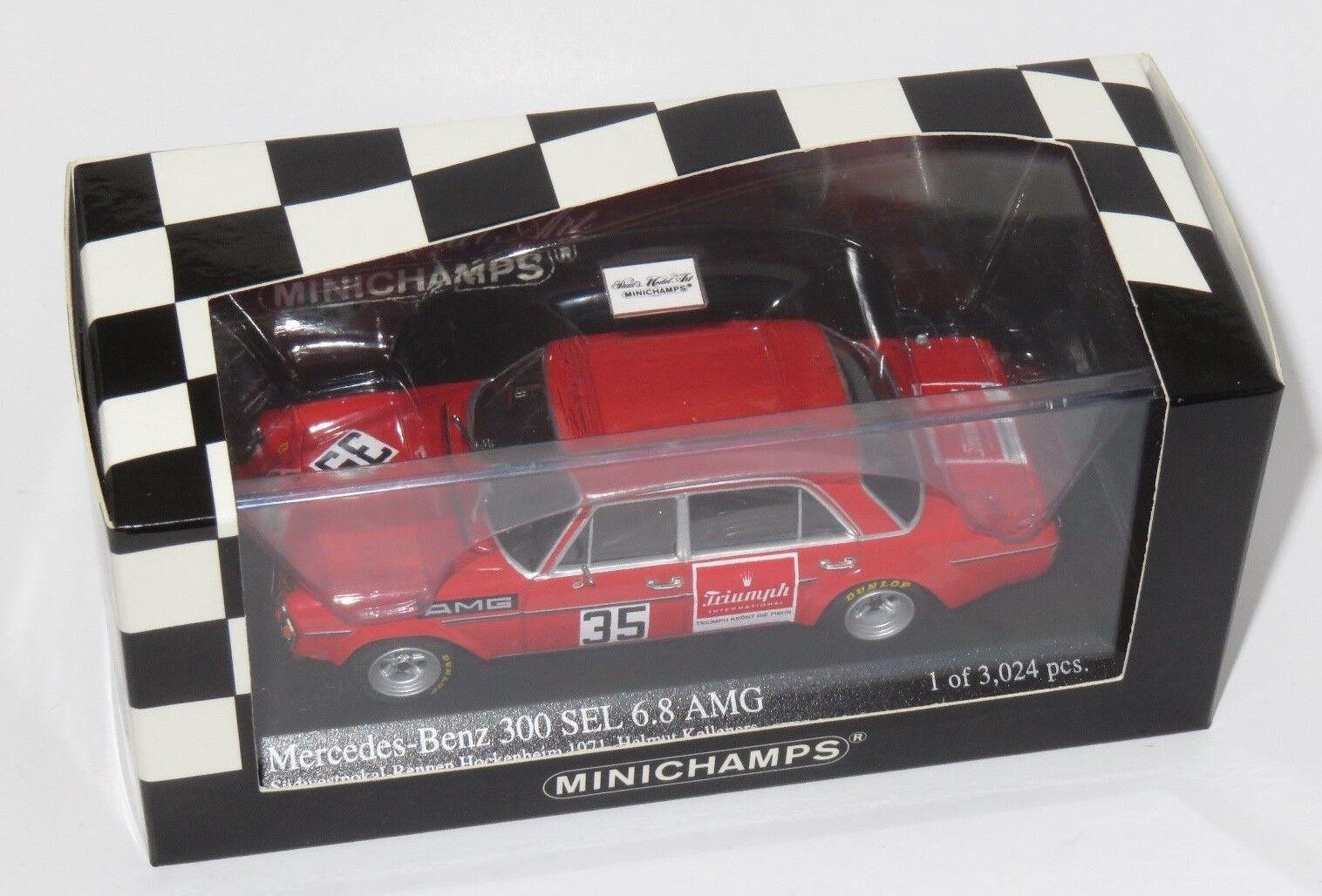 1/43 Mercedes Benz 300 SEL 6.8 AMG Hockenheim 1971 H. Kelleners | Porter-résistance