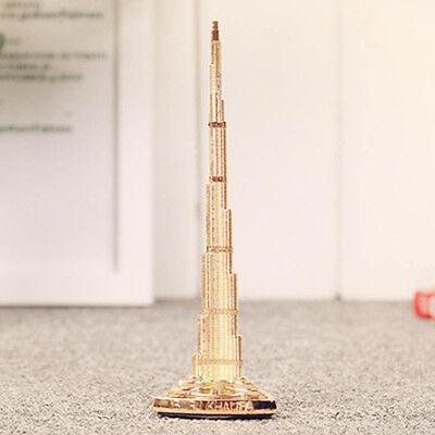 Miniatures Decorative Collectibles Honesty Burj Khalifa Tower Miniature,dubai Tower Scale Model,dubai Souvenir,gold Color