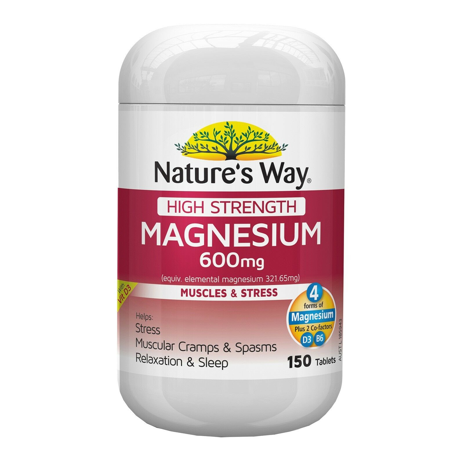 Natures Way High Strength Magnesium 600mg 150 Tabs Ebay Blackmores Total Calcium D3 200 Tablet Stock Photo
