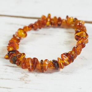 Genuine-Natural-Baltic-Amber-Bracelet-Raw-Brown-Cognac-Beads-Universal-Handmade