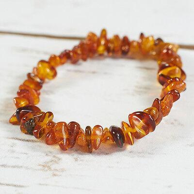 Baltic Amber Beads Bracelet 15 gr Barrel shaped adult natural genuine