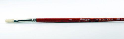 Daler Rowney Georgian G48 Long Flat Hog Bristle Oil Brushes  NEW
