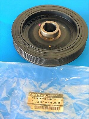 GENUINE 00-06 Nissan Sentra XE OEM crankshaft PULLEY 12303-5M000 12303-4Z400