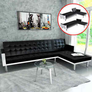 Details About Sofa Bed Couch Leather Sectional Sofas Sleeper L Shaped Modern Style Us