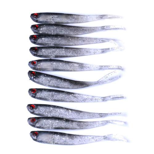10pc//Lot Bionic Life-like Soft Fishing Lure Fish Bait Tool Tackle  10cm 3.6g New