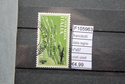 Actief Francobolli Italia Regno N°a57 Usati Stamps Italy Used (f105963) Vloeiende Circulatie En Pijn Stoppen
