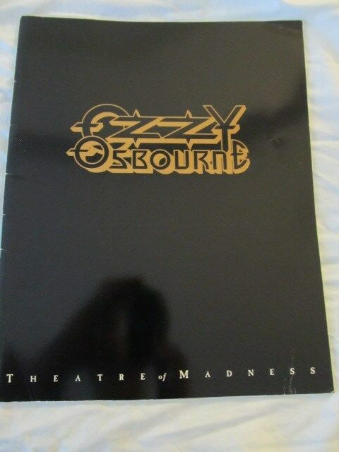 OZZY OSBOURNE 1991 Theatre Of Madness Concert Tour Program Book!!!
