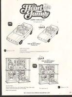 1985 Vintage Ad Sheet 1342- Mattel Toys - Heart Family - Family Car