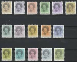 Nederland-Postfris-1981-MNH-1237-1252-Koningin-Beatrix-in-zwart