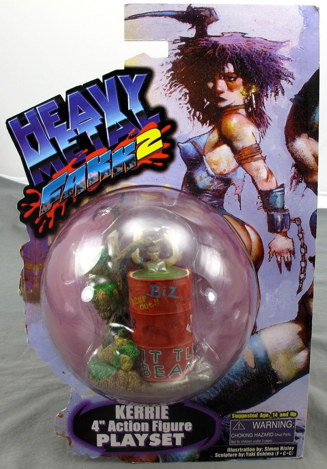 Heavy Metal Fakk2 Kerrie 4'' Action Figure Playset 1999 Art Asylum NEW