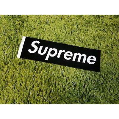 Supreme S/S 2017 Felt Sticker Box Logo Classic Black (White Tab)