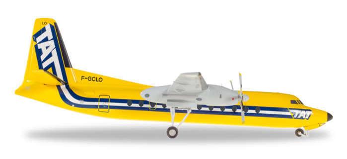 HE558594 Herpa Wings TRANSPORT AERIEN transrégionaux TAT FH-227 1 200 Die-Cast