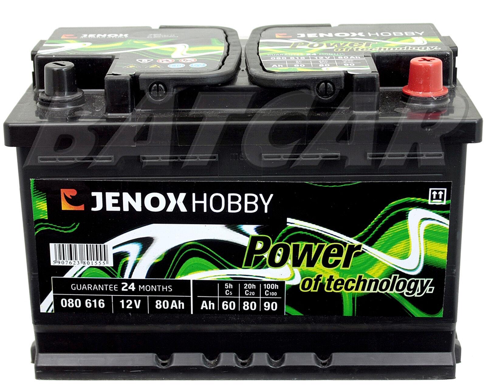 2 X Solarbatterie Jenox Hobby 12V 80 Ah 80Ah Wohnmobil, Solarakku,