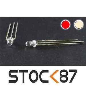 719-20-20-LED-bi-couleur-rouge-Blanc-chaud-3mm-anode-commune