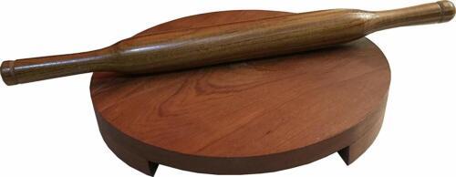 Kitchen Decor Wooden Chakla Belan Rolling Pin /& Board Roti Chapati Maker