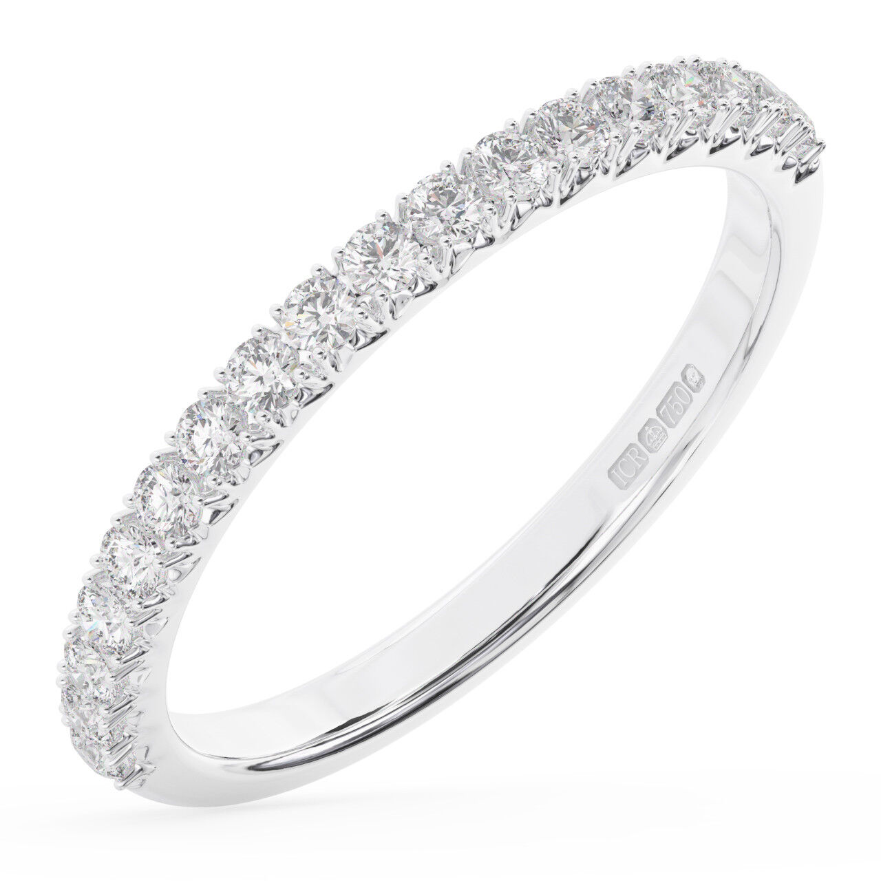 0.35Carat Round Brilliant Cut Diamonds Half Eternity Wedding Ring in18K gold