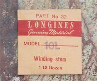 Vintage Longines 10l Watch Winding Stem Swiss Part Old Longines Watch Part
