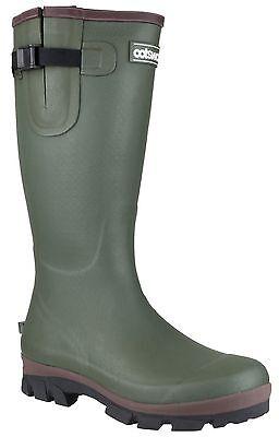 Cotswold Grange Neoprene Stivali Da Uomo Verde Fibbia Stivali Di Gomma Wellies Uk6-12-mostra Il Titolo Originale Eccellente (In) Qualità