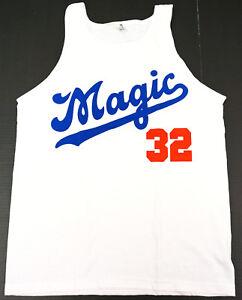best sneakers 6e8f6 3a3cd Image is loading MAGIC-32-DODGERS-Tank-Top-T-shirt-LA-
