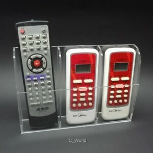 1Wall Mount Remote Control Holder Case for TV Air Conditioner Controller 3 in 1