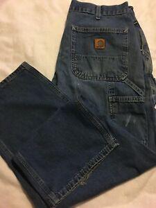 Vintage Mens 34 W X 29 L Carhartt Carpinteros Trabajo Jeans Pantalones De Mezclilla Vintage Usado Ebay