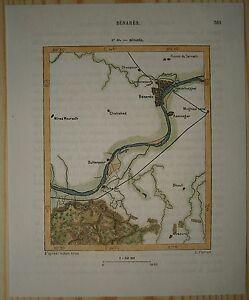 1883 Perron map VARANASI BENARES UTTAR PRADESH INDIA 80 eBay