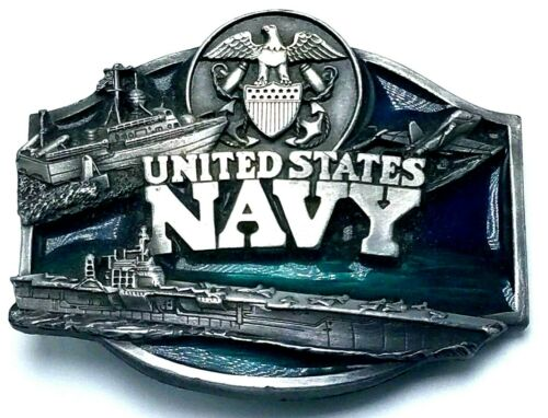 FREE SHIP Pewter United States Navy belt bucklevintage buckleSiskiyou Buckle Colimited editionfastenerunisexmenswomensD-921991