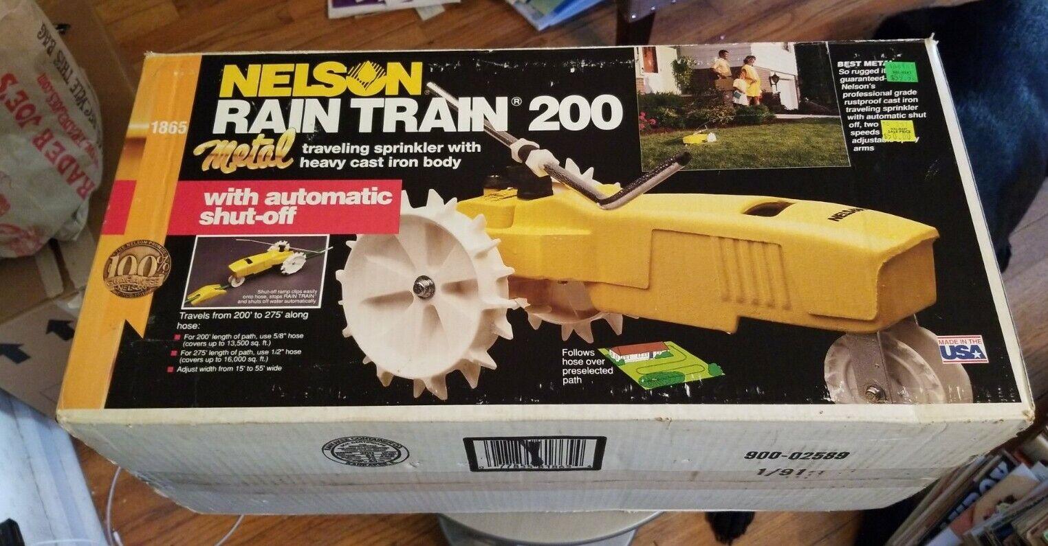 Nelson Rain Train 200 Metal Traveling Sprinkler Heavy Cast Iron Body Automatic