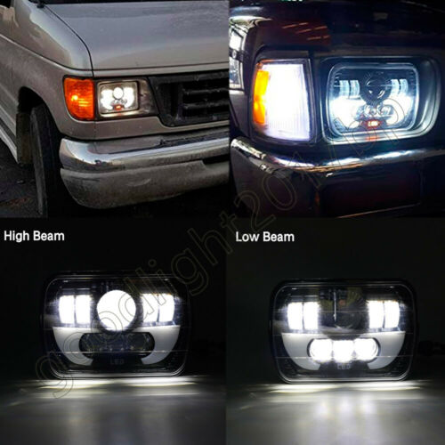 "FOR TOYOTA PICKUP TRUCK 5X7/"" 7X6/"" 300W H6054 HALO DRL SEALED BEAM LED HEADLIGHT"