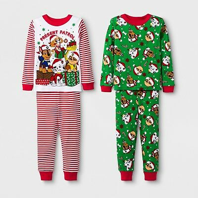 Peppa Pig Girls/' Toddler Christmas// Holiday 2 Piece Cotton Tight Fit Set Size 2T