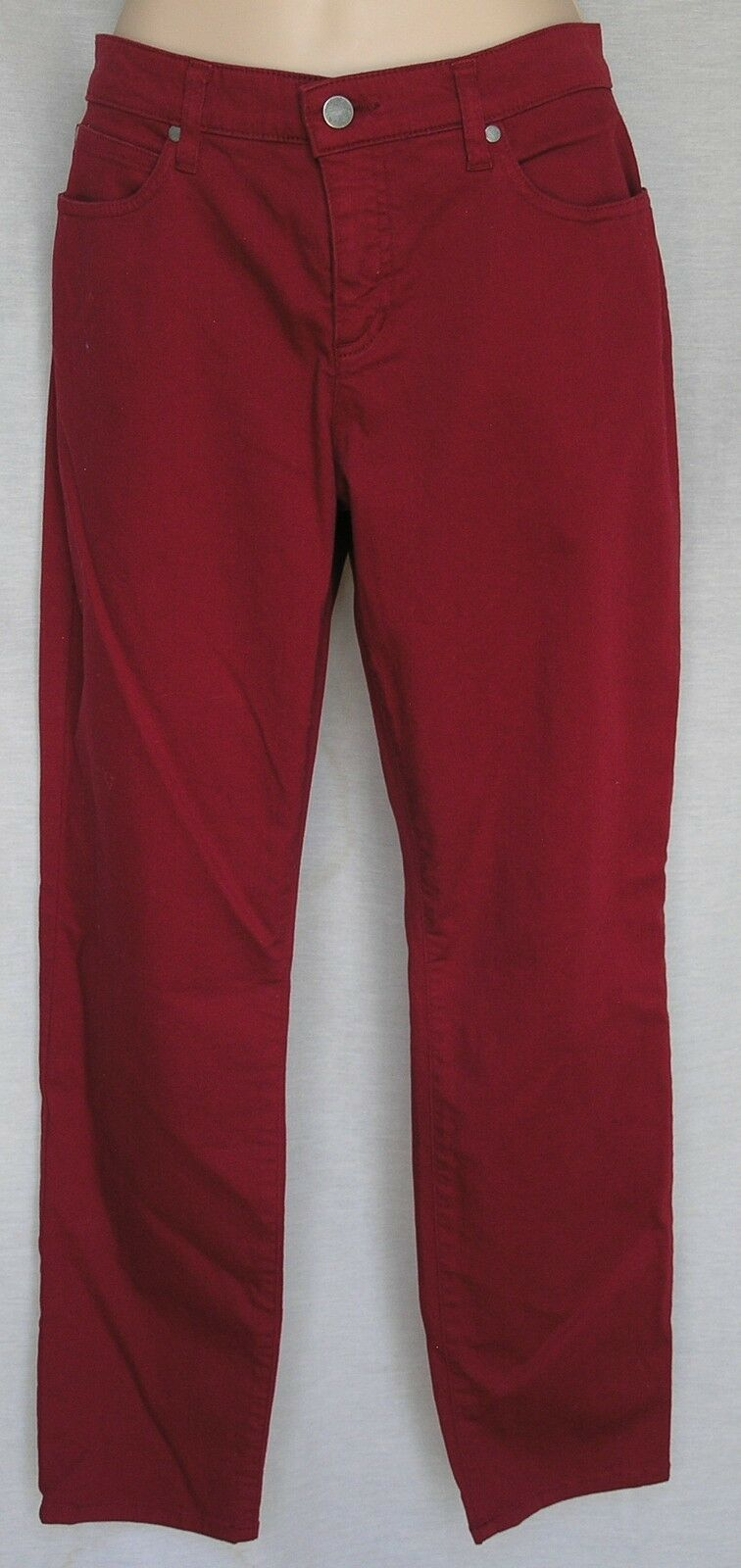 EILEEN FISHER GARMENT-DYED ORGANIC COTTON STRETCH TWILL SLIM ANKLE JEAN 6