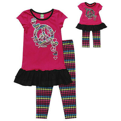 """Dollie and Me 8 12 gril & 18"""" doll matching outfit set  american girl"""
