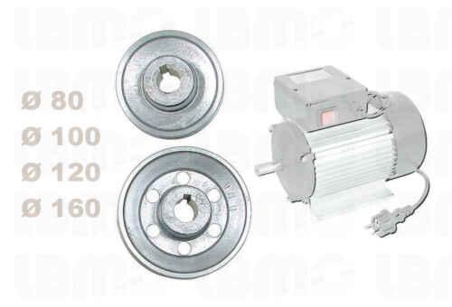 28 mm Axe 19-24 120-160 mm POULIE pour Moteur électrique Ø 80-100