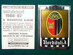 FIGURINA PANINI CALCIATORI SCUDETTO N.363 ASCOLI 1985-86  NEW FIO
