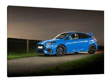 2016 Ford Focus RS - 30x20 Inch Canvas Wall Art Framed Picture Print