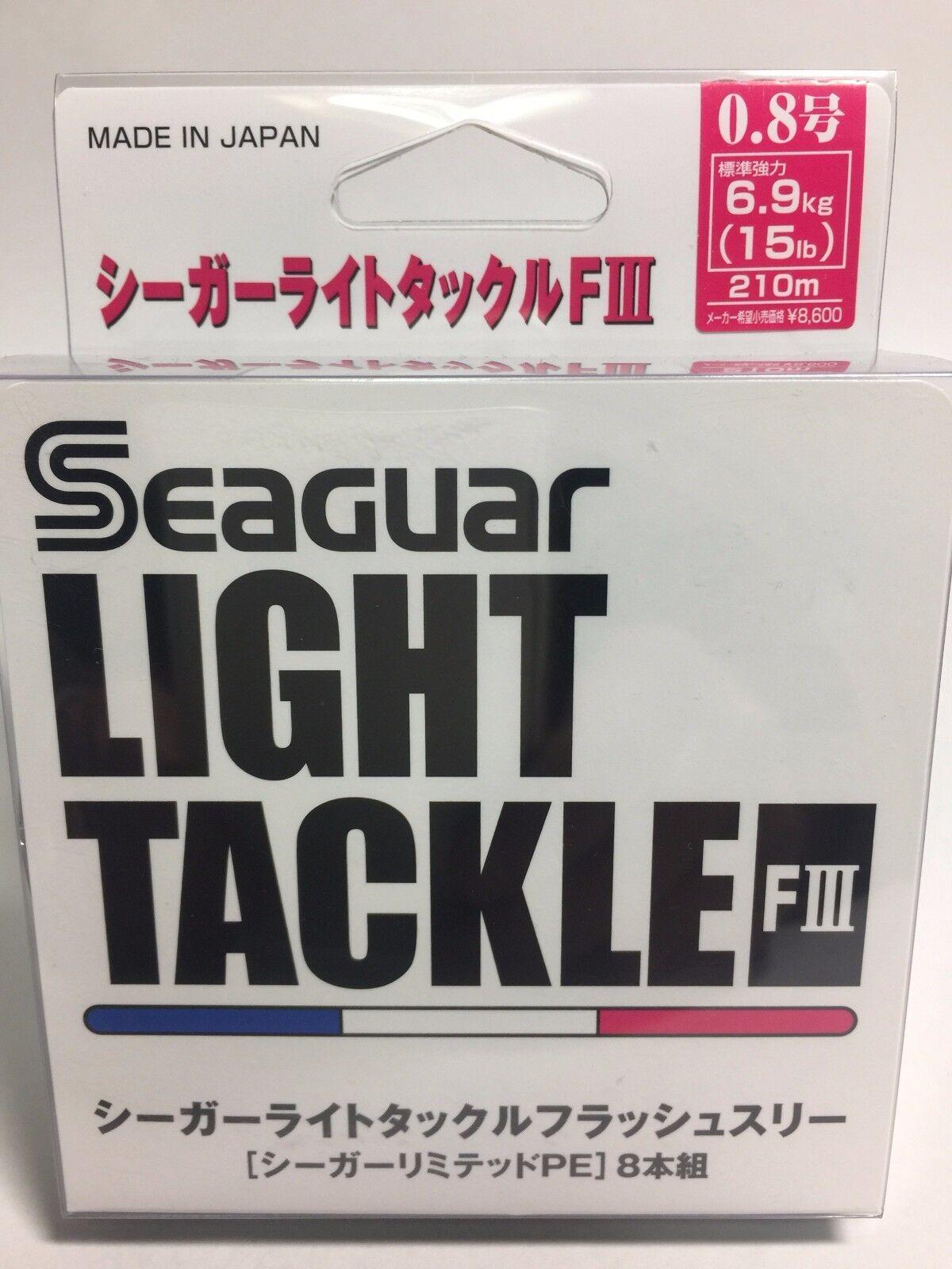 50999) Seaguar Luz Tackle Flash III 8  PE Trenzado línea  0.8 (15lb 6.9kg) 210m  hasta 42% de descuento