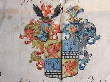 Adelsbrief von 1786, DITTERICH VON UND ZUR ERBMANNSZAHL, Kaiser Joseph II.!