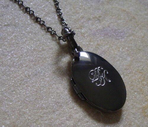 Dyrberg núcleo medallón cadena medaillonkette fabbies Gunmetal//Crystal
