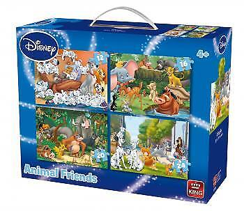 Disney 4in1 - - Animals #05506 12,16,20,24 Pcs King Puzzles