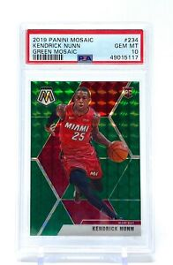 Kendrick Nunn 2019-20 Panini Mosaic Green Rookie PSA 10 Gem Mint #234 RC Heat
