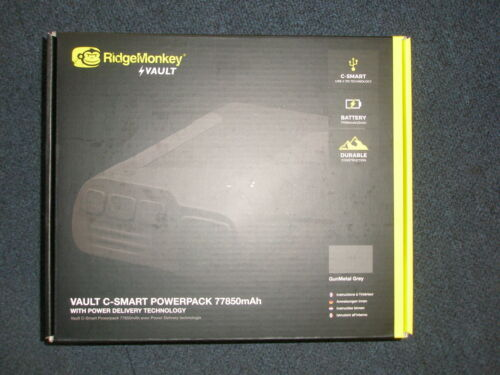 Ridge Monkey Tresor C-Smart Powerpack 77850mah Metallisches Grau